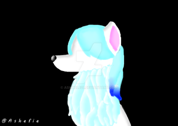 Ice Crystal Wolf Cat by AshHole21