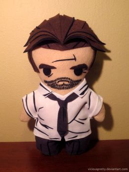 the wolf among us bigby plush, chibi style! by viciouspretty