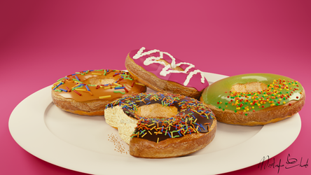 3D - Donuts by M-Ehab