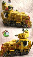 SpaceOrks BadMoons Battlewagon by HomeOfCadaver