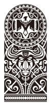 Maori and Polynesian style mix tribal. by Takihisa