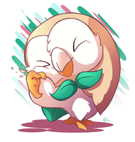 Favorite Grass Type: Rowlet by TheArtsyAxolotl