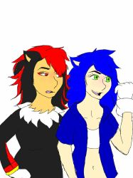 Female and Semi-Human Shadow and Sonic by Brookstata
