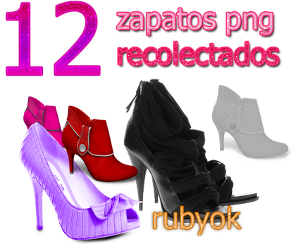 12 zapatos png by rubyok