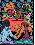 Puppies and Laundry Day by Silver-Fox-Princess