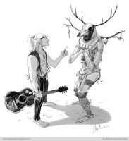 Geralt and Leshen by mstrychowska