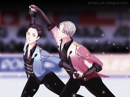 Yuri on Ice: Stay close to me by Estelly