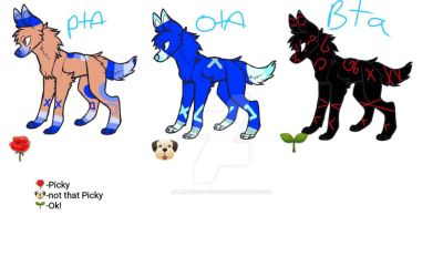 ADOPTION! //2 and 3 are taken!// by PurpleCottonOTAS