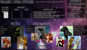 Journal Commission Price Sheet by nebulaebae