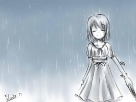 Tears and Rain_Quick Sketch by wernwern