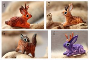 Jackalopes and squirrel by hontor