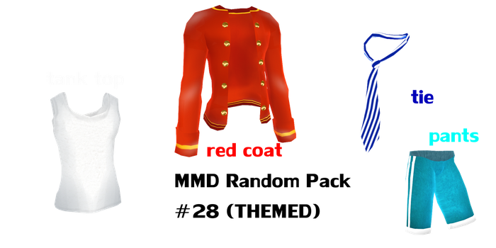 Mmd Random Pack 28 THEMED (male clothing) by Tehrainbowllama