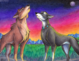 YCH Commission-Dusk Howl by Stray-Sketches