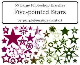 65 5-pointed Stars by purplefeen by purplefeen