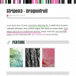 Stripe03 - Dragonfruit by 85yoshida
