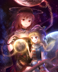 Hecatia and Clownpiece by tauminust