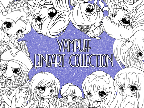 YamPuff Lineart Collection - 150+ Linearts by YamPuff