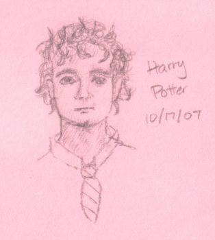 Harry postit sketch by kalany