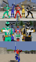 MMD NC - Engine Sentai Go-Onger, STORM OF STUFF by Zeltrax987