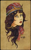Commission : Fortune Teller Tattoo by DapperNoir