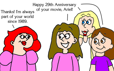 Happy 29th Anniversary, The Little Mermaid! by MikeJEddyNSGamer89