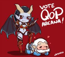QoP and Zues arcana showdown by chroneco