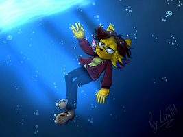 Drowning by lizathehedgehog