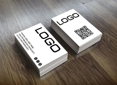 Simple black and white themed business card by jeffmcc1