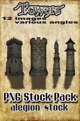 Towers PNG Pack by Alegion-stock
