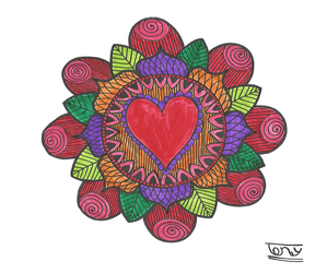 Simple Colorful Mandala by smileyface001