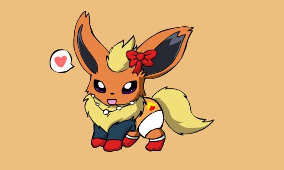 baby flareon by mimi1999