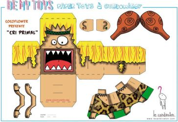 Papertoy Cri Primal by CocoFlower template by coco-flower