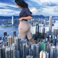 Giantess Brittany Renner in Hong Kong by xyu96