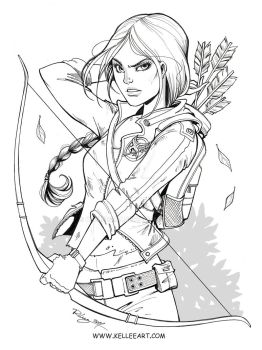 Katniss Ink by KelleeArt