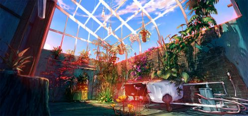 Fisheye Placebo: Background Concept Art 2 by yuumei