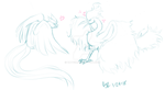 Drawpile doodle: Articuno vs. Moltres by catgir