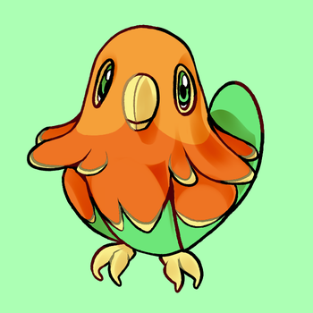 Solnure - The Sun Conure Pokemon by Zarumaji