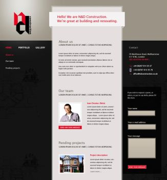 N and D Construction homepage by marame