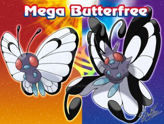 Mega Butterfree by badafra