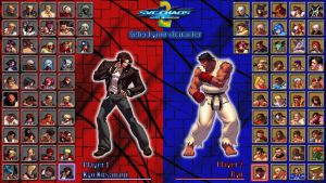 SNK vs Capcom 2 character select screen by MrJechgo