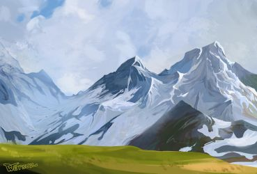 Mountains by Wersuz
