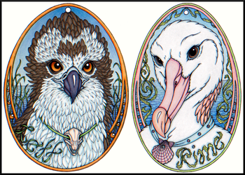 Lett and Rime Egg Badges by swandog