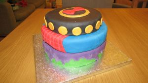 Avengers Birthday Cake by BevisMusson