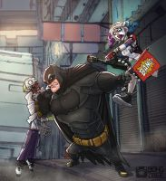 Mistah J, Batsy and Harley. #Puddin'GoneWrong by BongzBerry