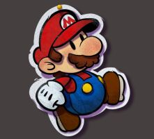 One face a day 191/365. Paper Mario by Dylean