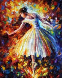 Surrounded By Music by Leonid Afremov by Leonidafremov