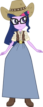 Cowgirl Twilight in a long skirt by Starman1999