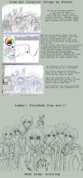 Line Art tutorial in SAI by himiko