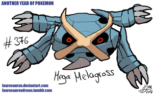 Anothr year of pokemon: #376 Mega Metagross by Laurosaurus