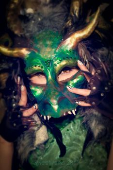 MYTH Masque - Dragon Mask by ctrlaltvamp
